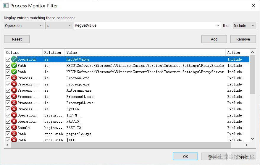 processMonitorFilter